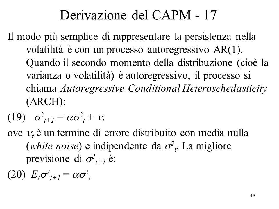 Derivazione del CAPM - 17