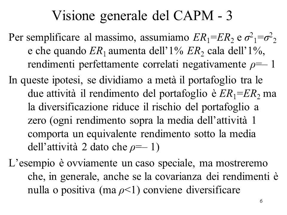 Visione generale del CAPM - 3
