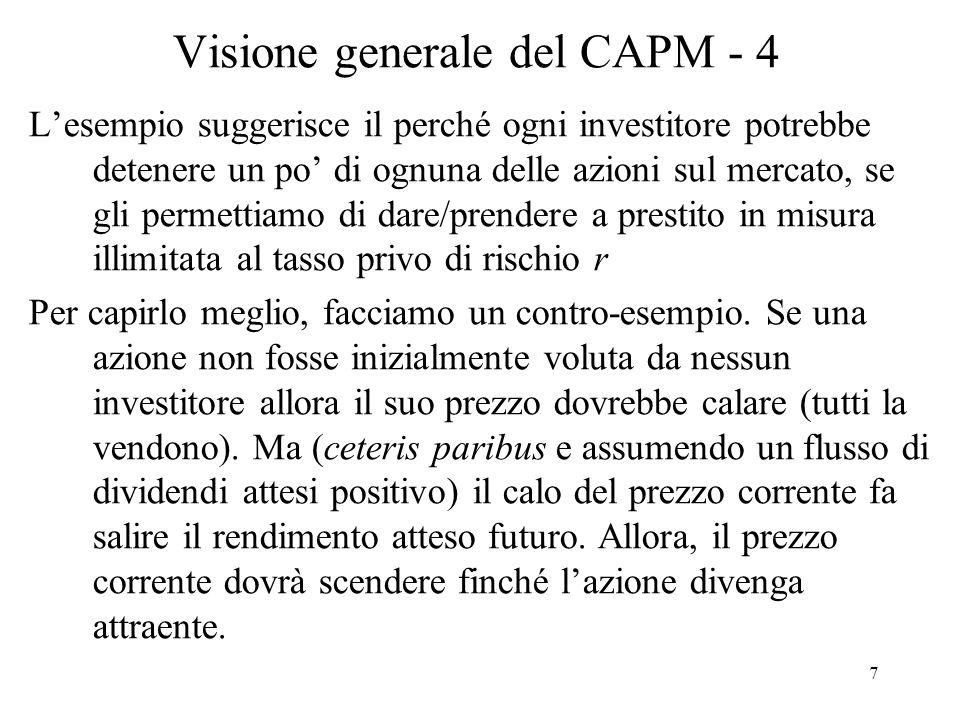 Visione generale del CAPM - 4