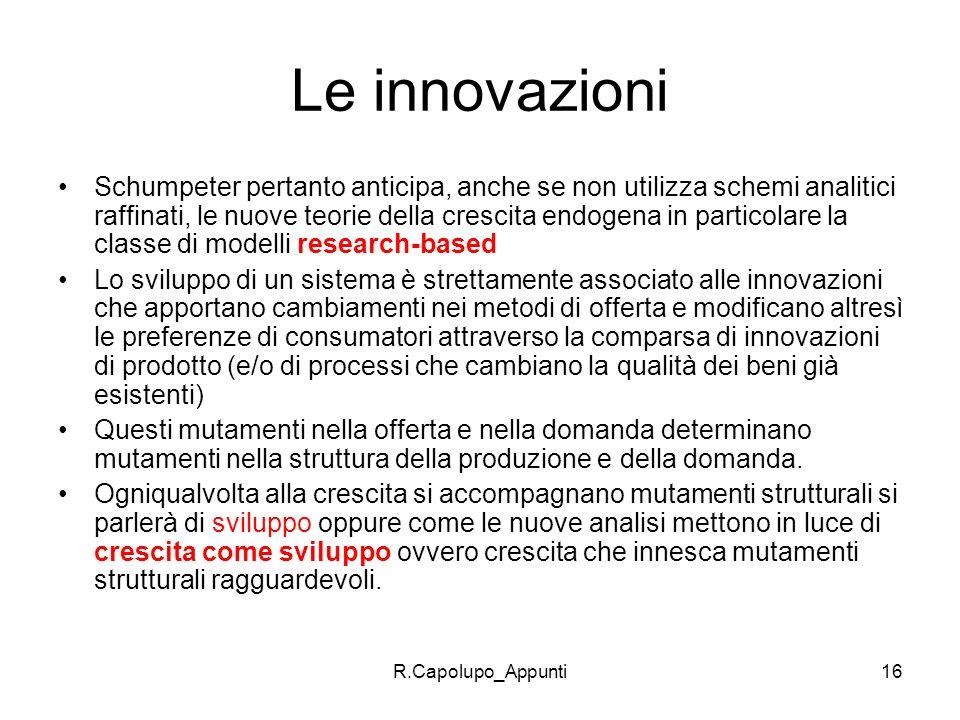 Le innovazioni