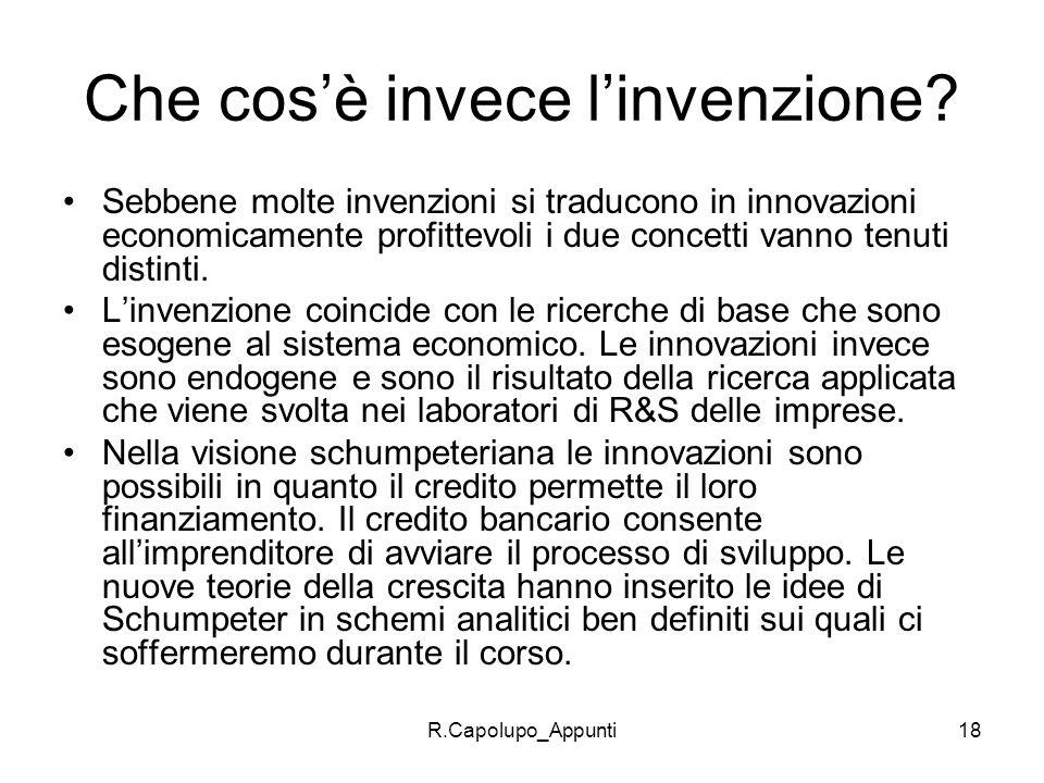 Che cos'è invece l'invenzione