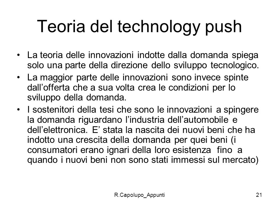 Teoria del technology push