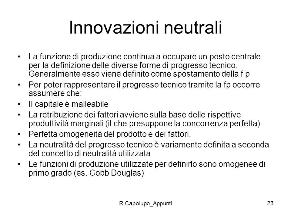 Innovazioni neutrali