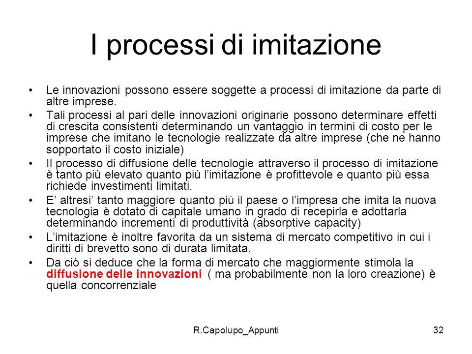 I processi di imitazione