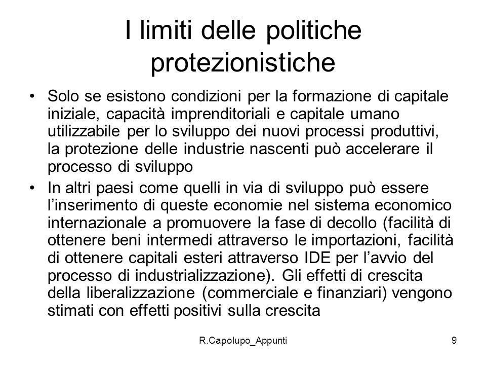 I limiti delle politiche protezionistiche