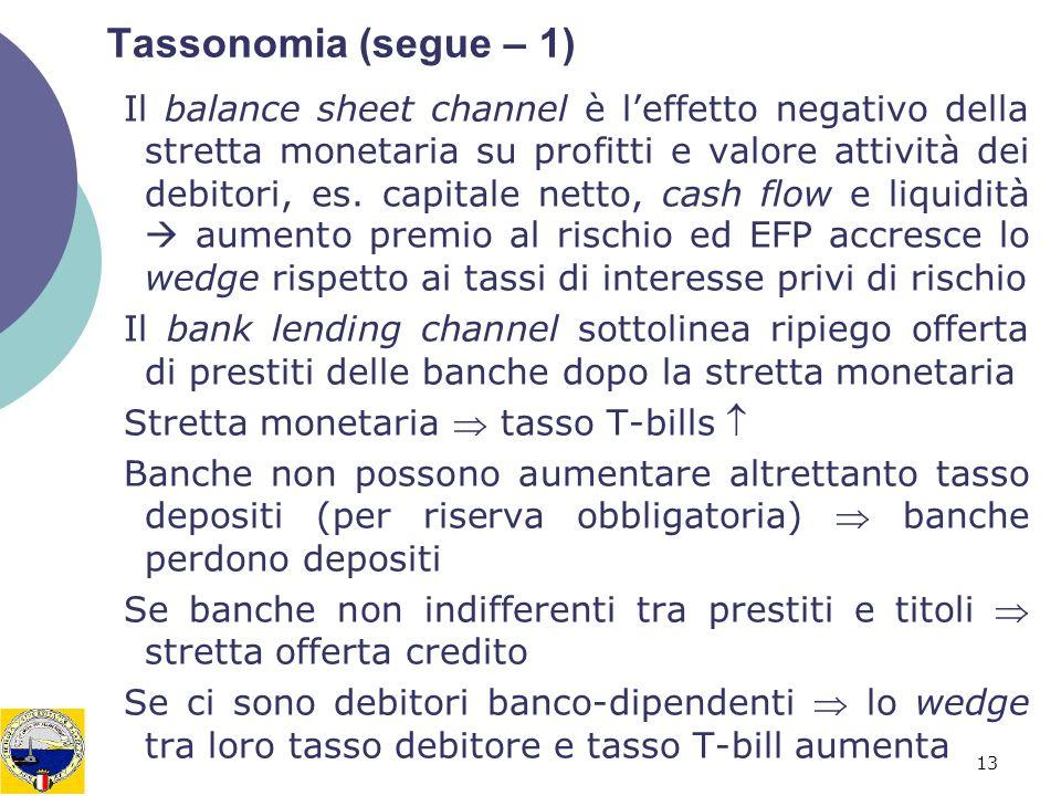 Tassonomia (segue – 1)