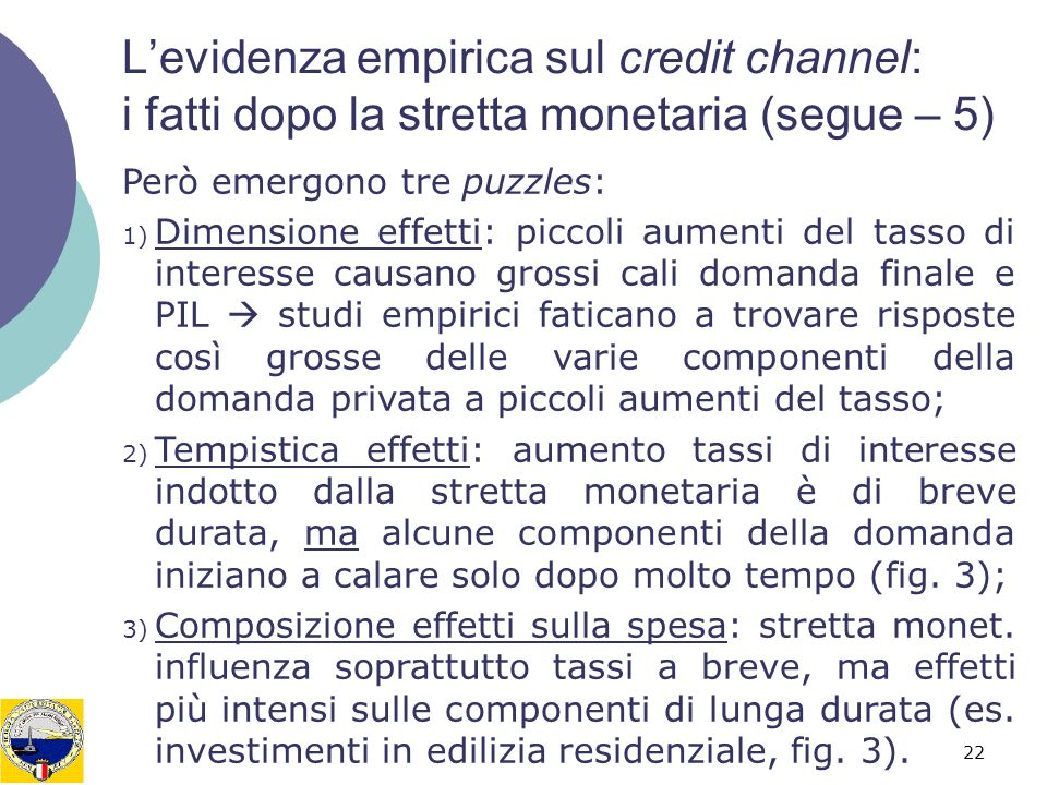 L'evidenza empirica sul credit channel: i fatti dopo la stretta monetaria (segue – 5)