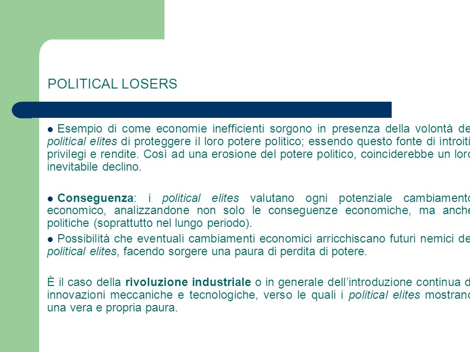 POLITICAL LOSERS