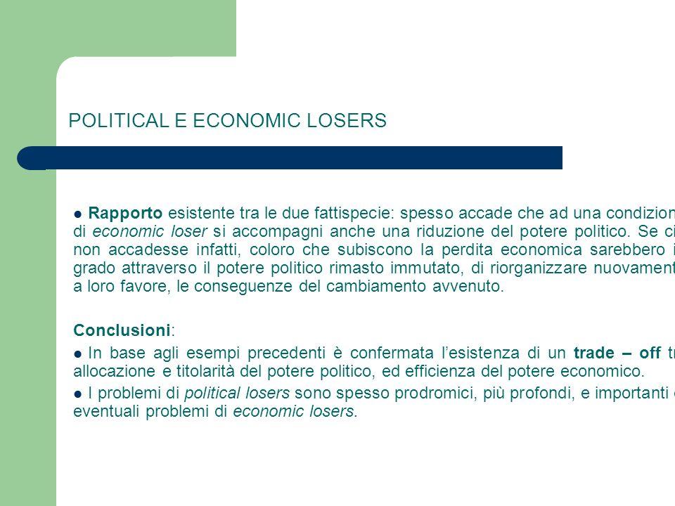 POLITICAL E ECONOMIC LOSERS