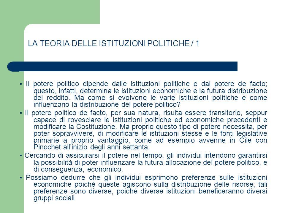 LA TEORIA DELLE ISTITUZIONI POLITICHE / 1