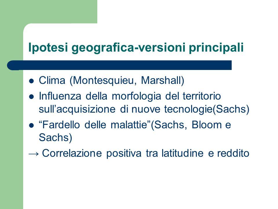 Ipotesi geografica-versioni principali