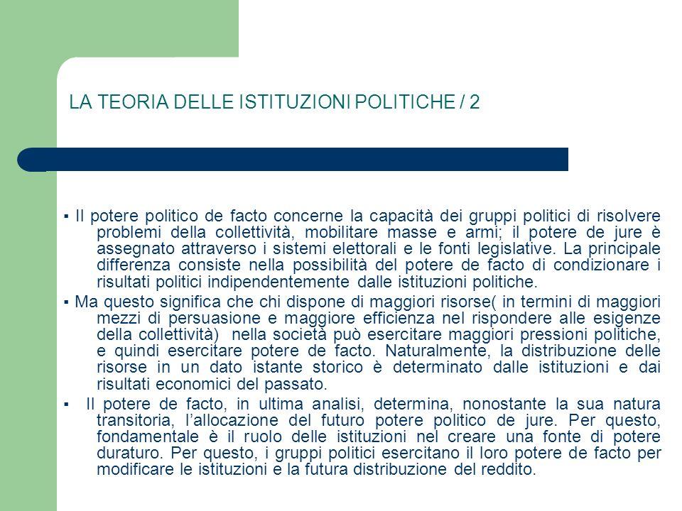 LA TEORIA DELLE ISTITUZIONI POLITICHE / 2