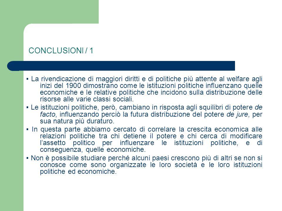 CONCLUSIONI / 1