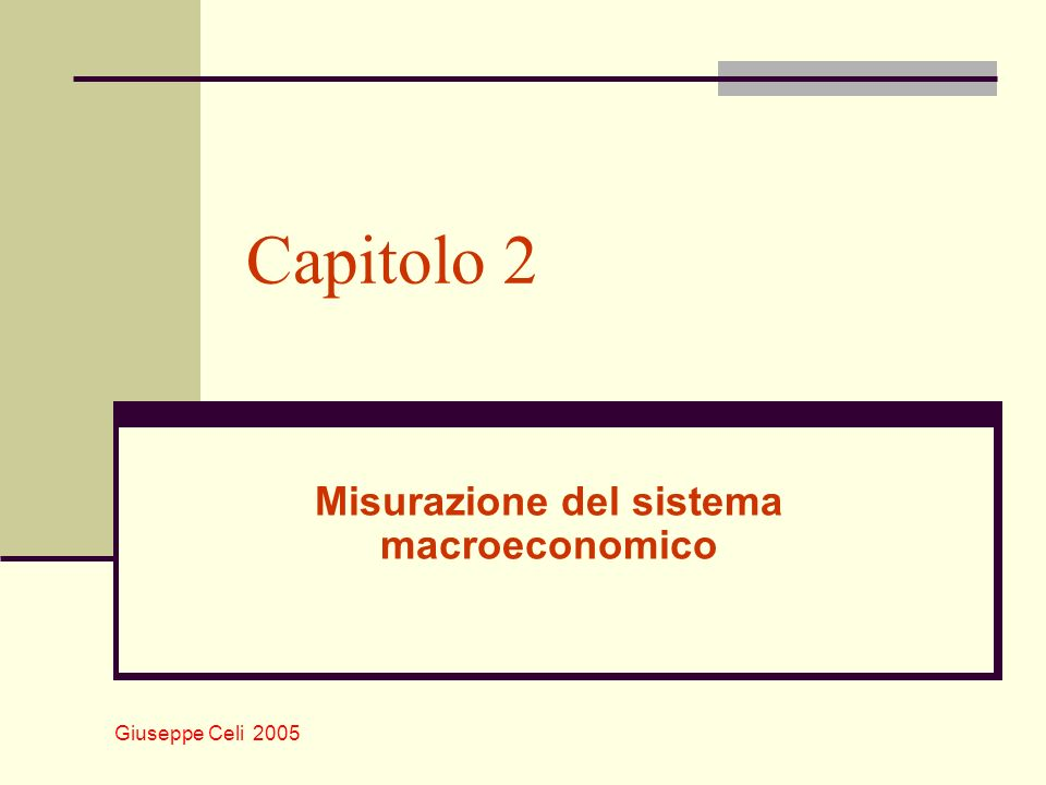 Misurazione del sistema macroeconomico