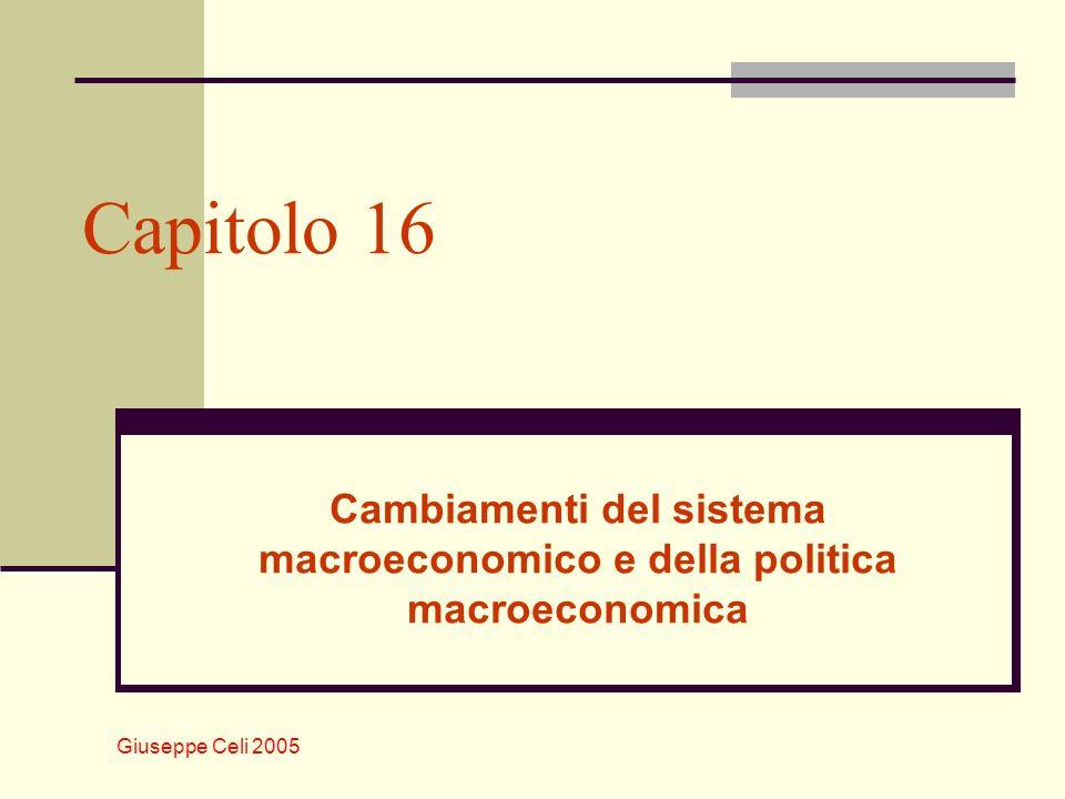 Cambiamenti del sistema macroeconomico e della politica macroeconomica