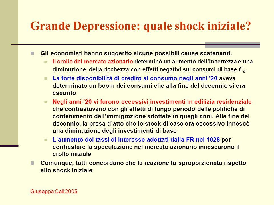 Grande Depressione: quale shock iniziale