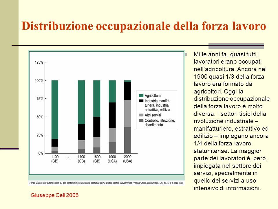Distribuzione occupazionale della forza lavoro