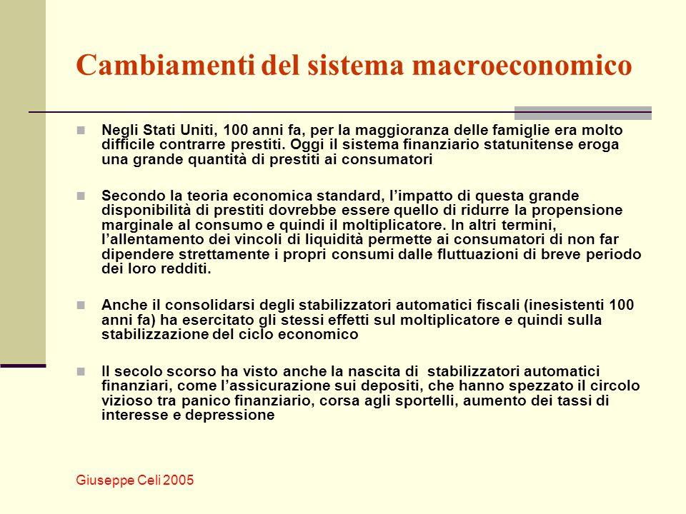 Cambiamenti del sistema macroeconomico