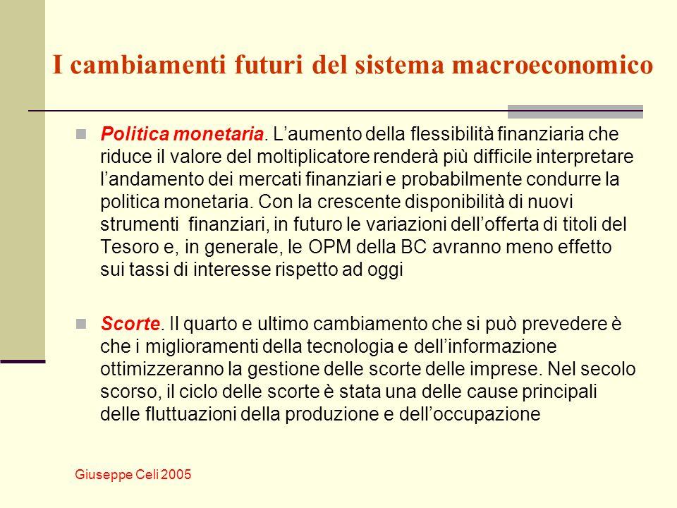 I cambiamenti futuri del sistema macroeconomico