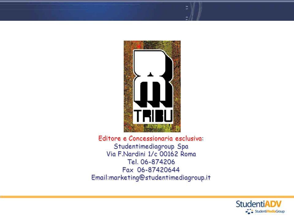 Editore e Concessionaria esclusiva: Studentimediagroup Spa