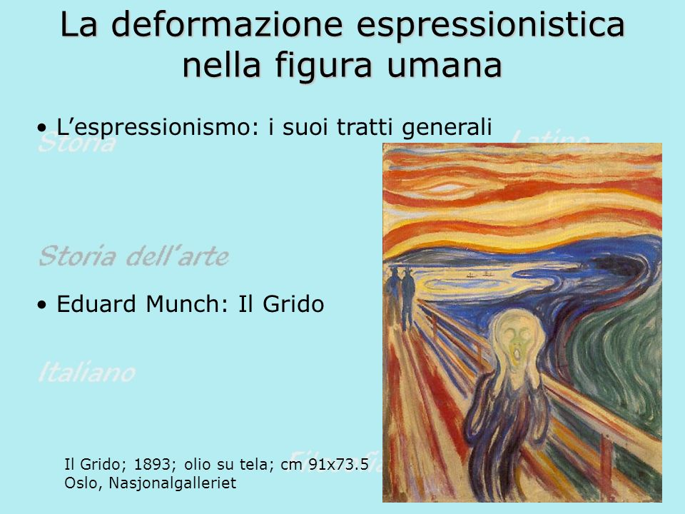 La deformazione espressionistica nella figura umana