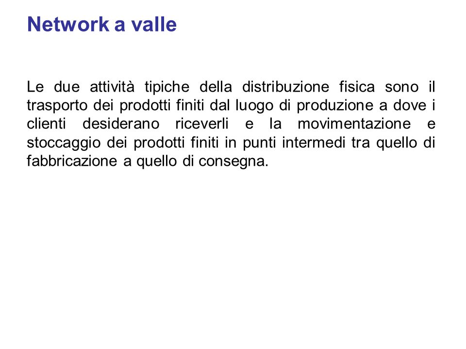 Network a valle