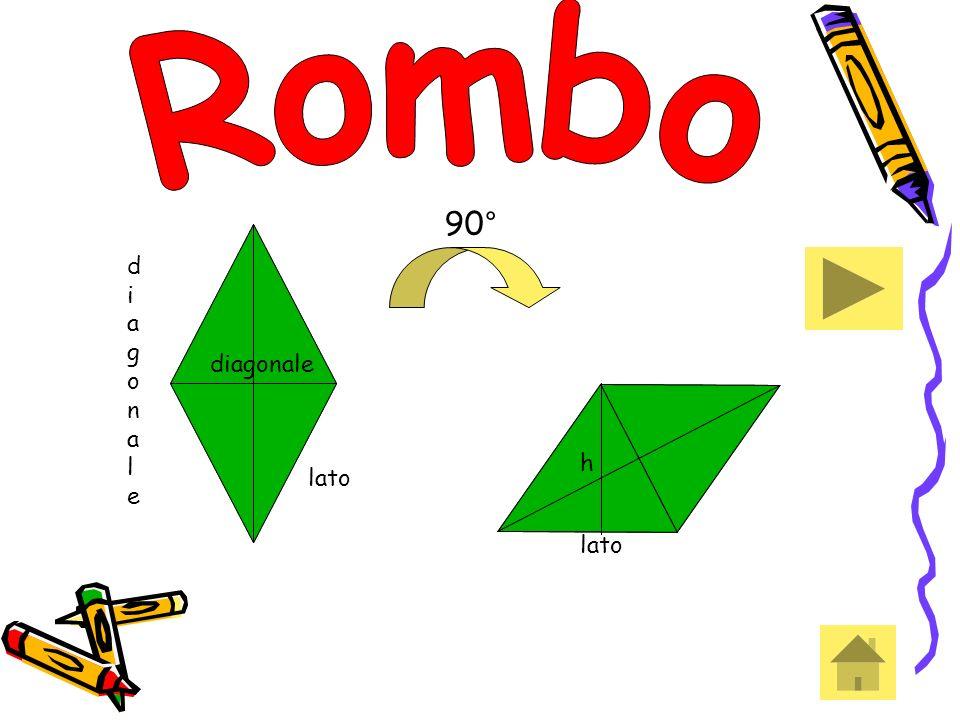 Rombo 90° diagonale diagonale h h lato lato