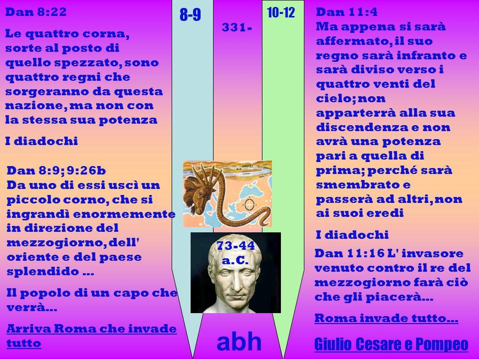 abh 8-9 Giulio Cesare e Pompeo 10-12 Dan 8:22