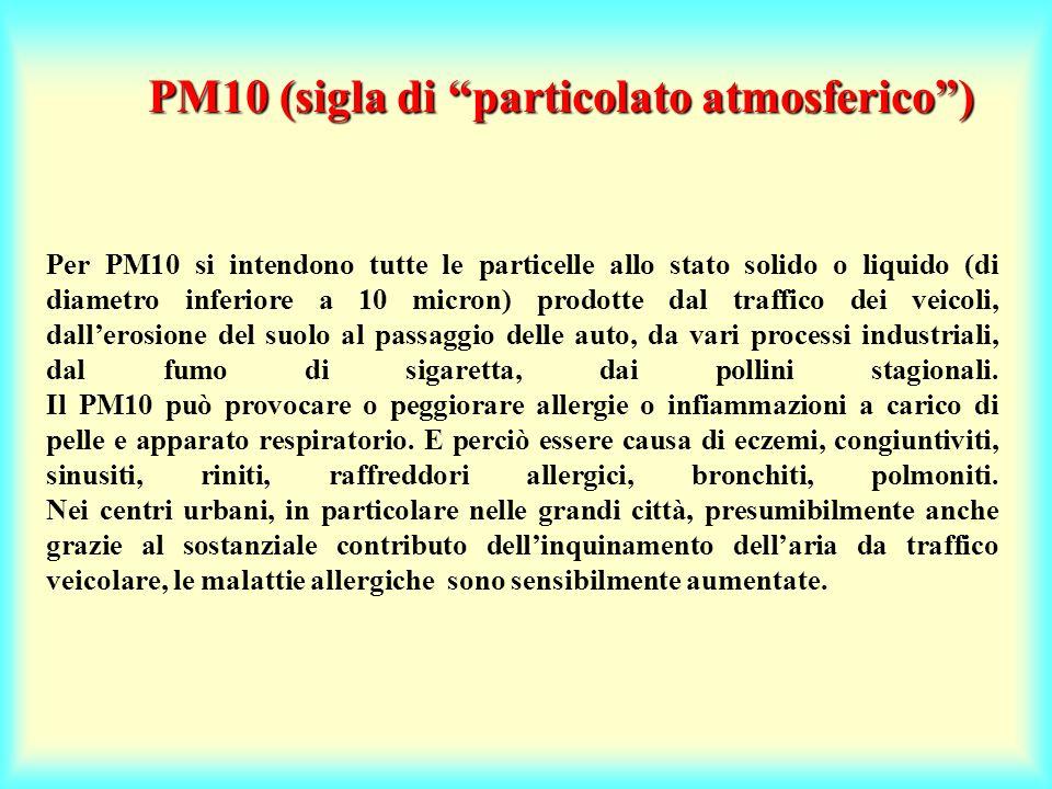PM10 (sigla di particolato atmosferico )