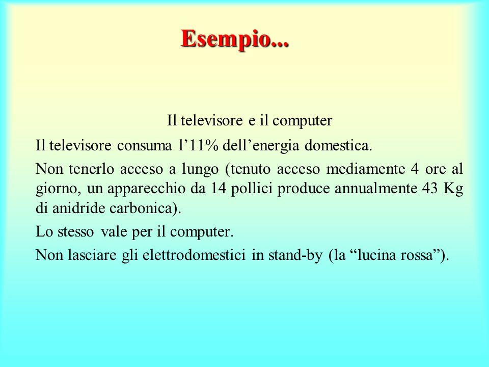 Il televisore e il computer