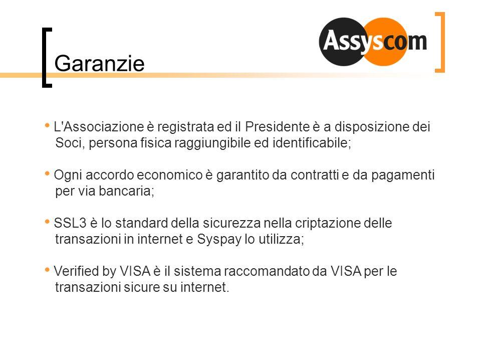 Garanzie L Associazione è registrata ed il Presidente è a disposizione dei Soci, persona fisica raggiungibile ed identificabile;