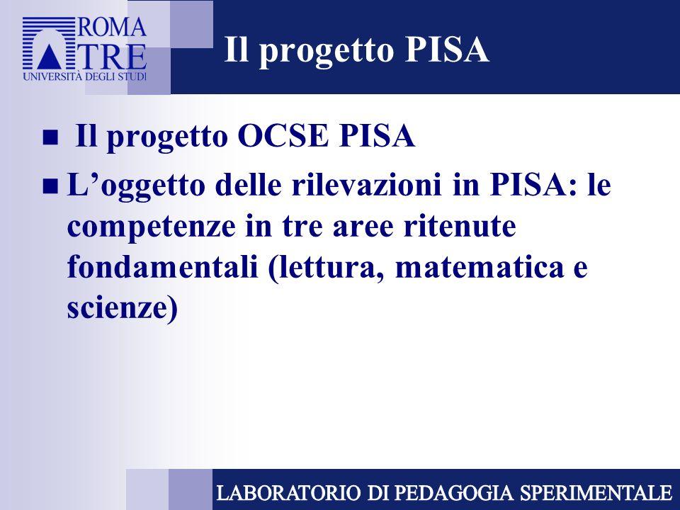 Il progetto PISA Il progetto OCSE PISA