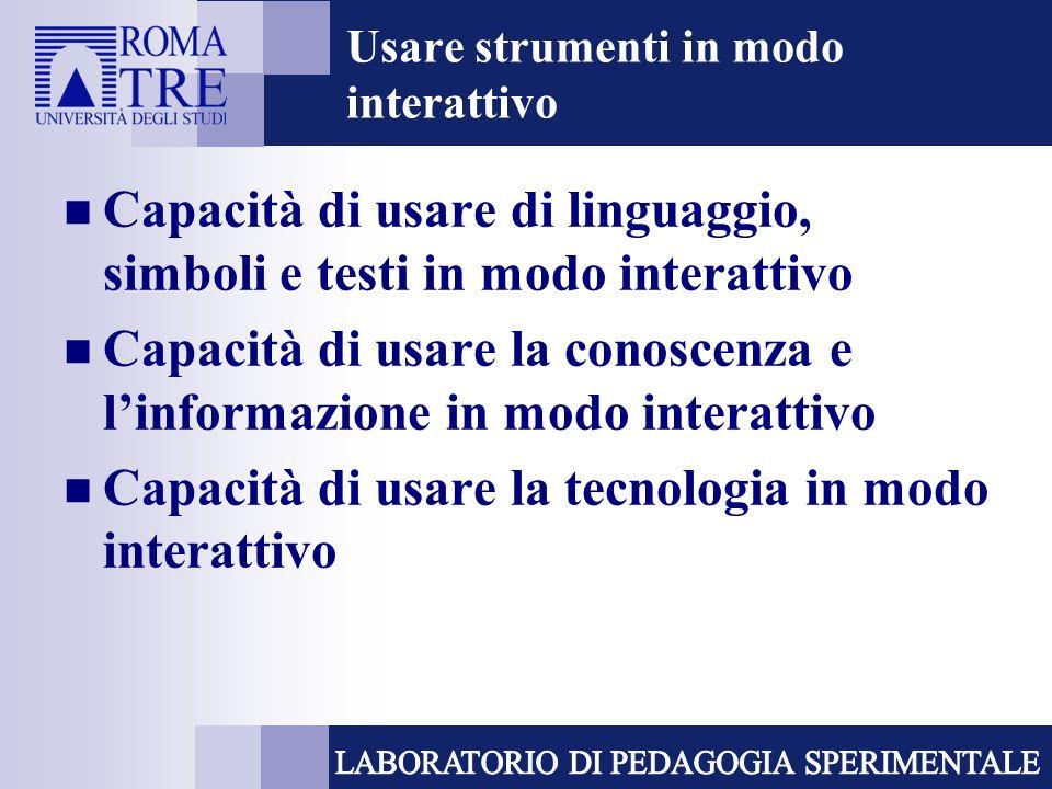 Usare strumenti in modo interattivo