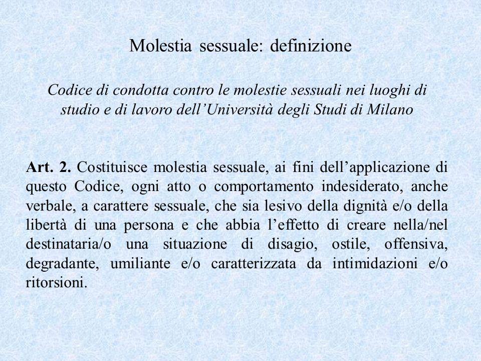 Molestia sessuale: definizione