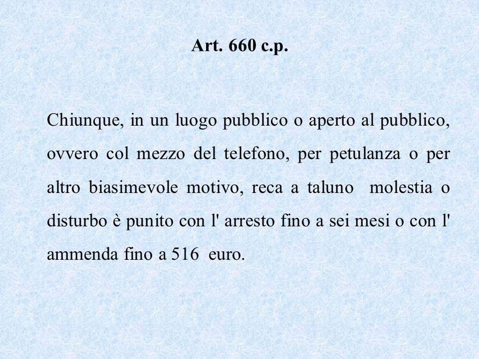 Art. 660 c.p.