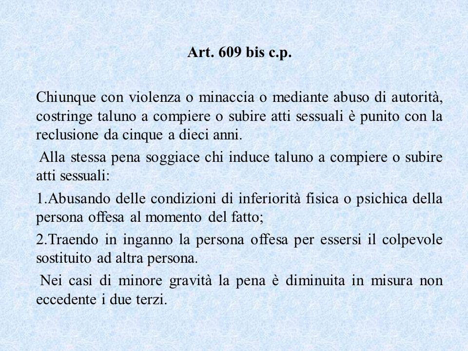 Art. 609 bis c.p.
