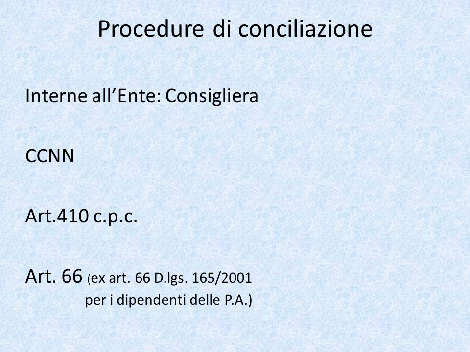 Procedure di conciliazione