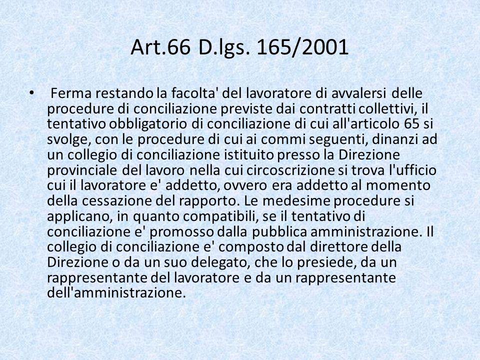 Art.66 D.lgs. 165/2001
