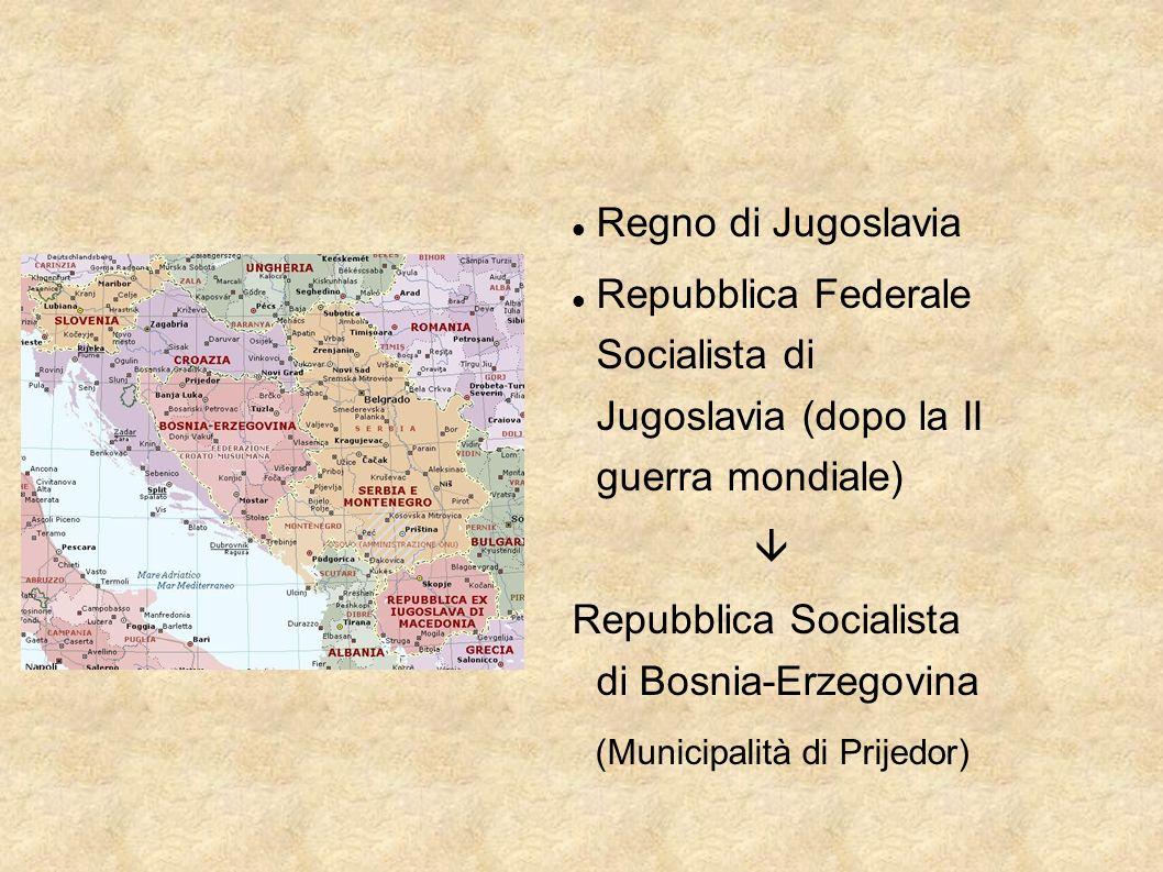 Regno di Jugoslavia Repubblica Federale Socialista di Jugoslavia (dopo la II guerra mondiale) 