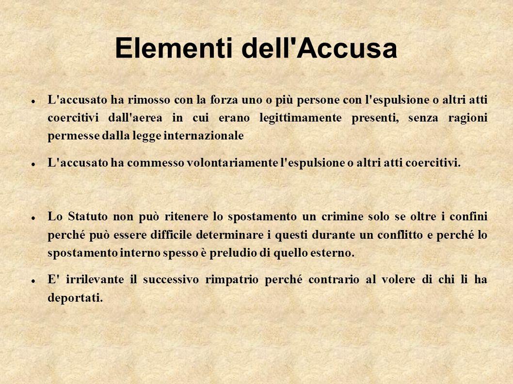 Elementi dell Accusa