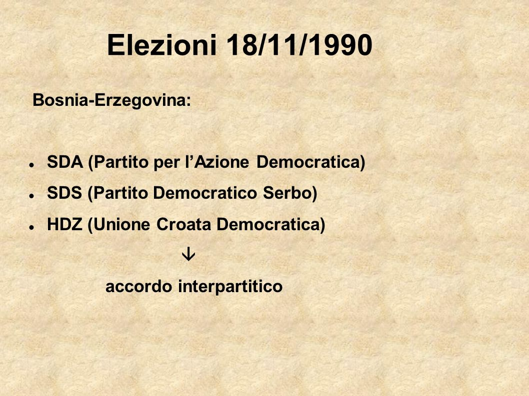 Elezioni 18/11/1990 SDA (Partito per l'Azione Democratica)
