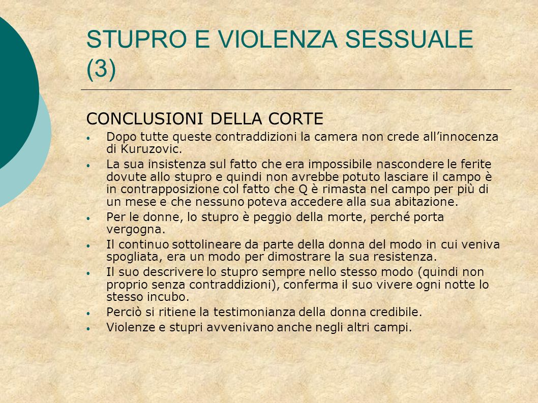 STUPRO E VIOLENZA SESSUALE (3)