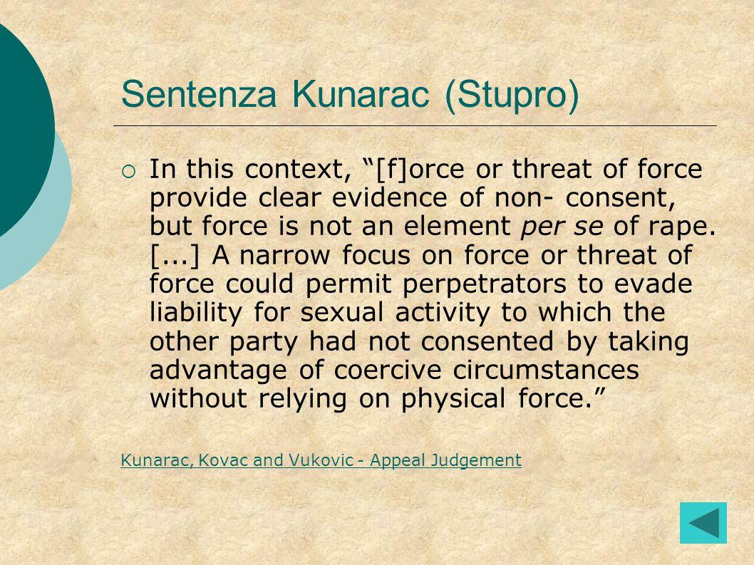 Sentenza Kunarac (Stupro)