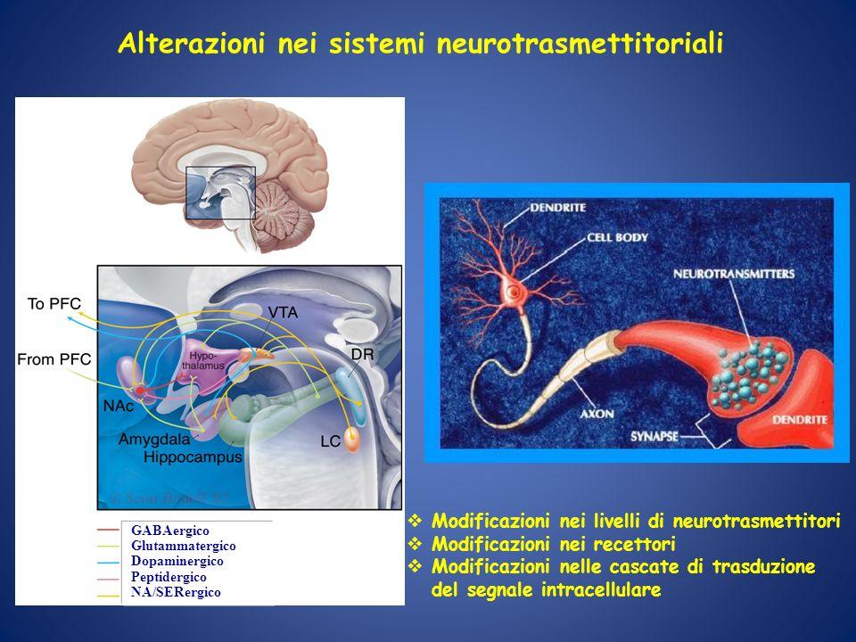 Alterazioni nei sistemi neurotrasmettitoriali