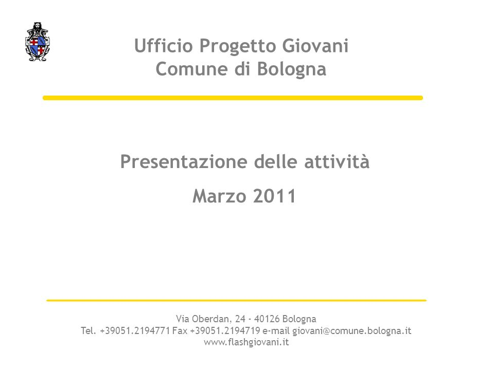 Ufficio Progetto Giovani Comune di Bologna