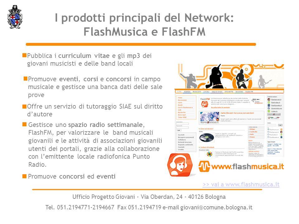 I prodotti principali del Network: FlashMusica e FlashFM