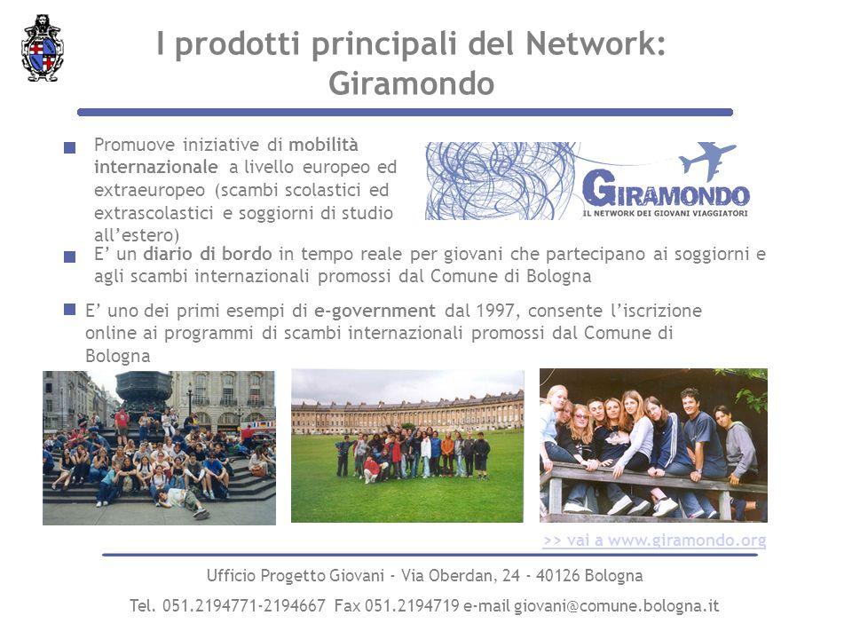 I prodotti principali del Network: Giramondo