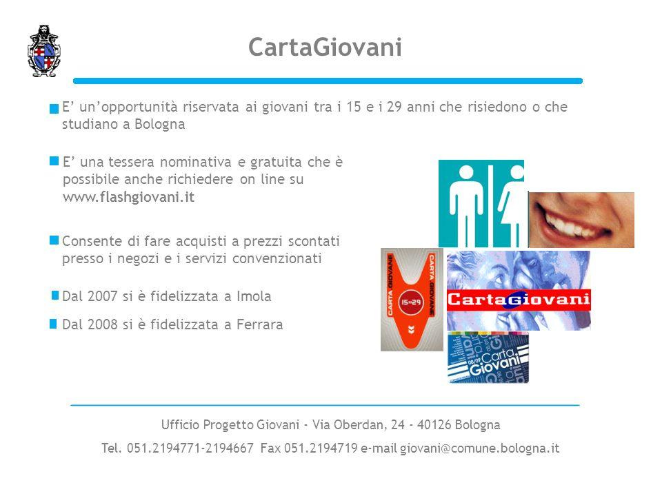 Ufficio Progetto Giovani - Via Oberdan, 24 - 40126 Bologna