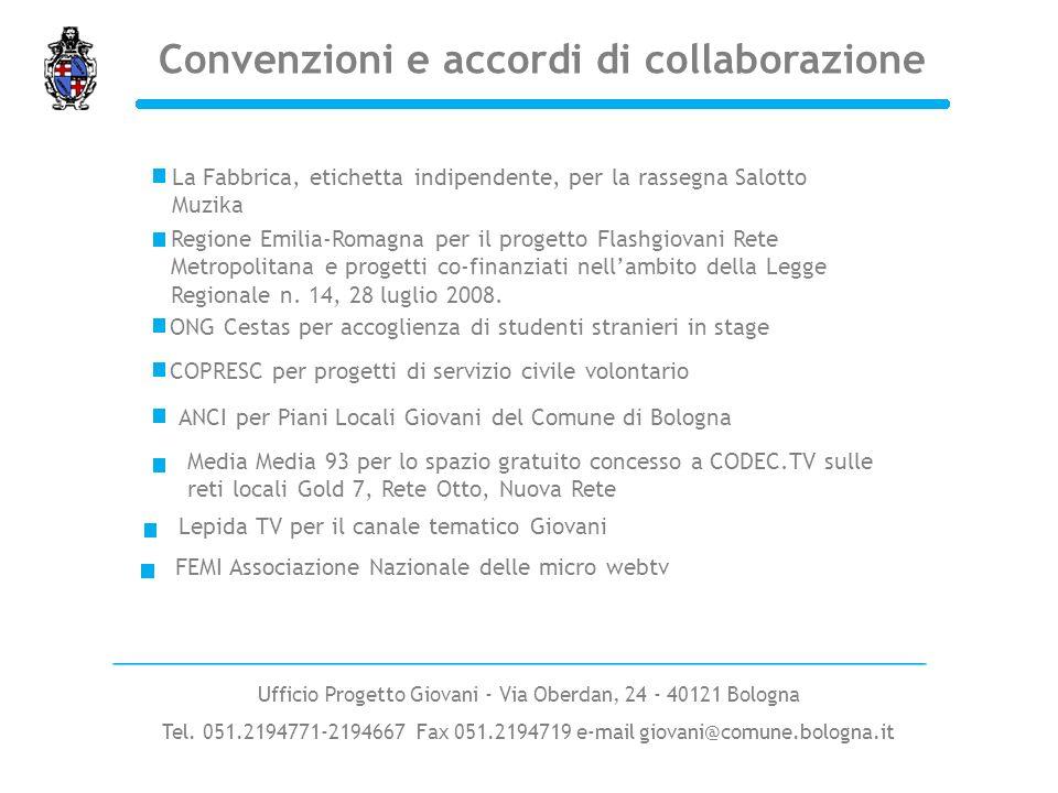 Convenzioni e accordi di collaborazione