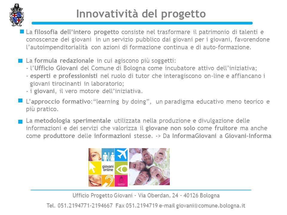 Innovatività del progetto